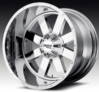 20 inch 20x9 Moto Metal Chrome Wheels Rims 8x170 Ford F250 350