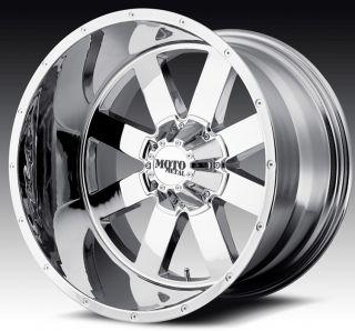 20 inch 20x9 Moto Metal Chrome Wheels Rims 8x170 Ford F250 350