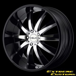 Helo HE851 Gloss Black Machined 5 Lugs Wheels Rims Free Lugs