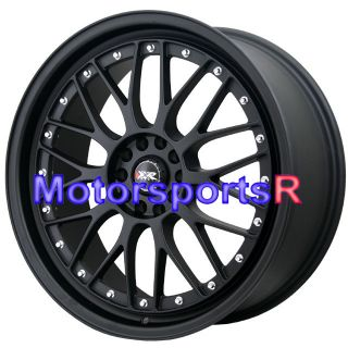 18 18x8 5 XXR 521 Flat Black Wheels Rims Lip 04 05 06 07 08 Acura TL