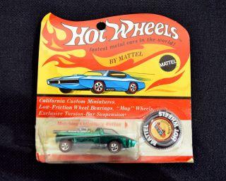1969 Hot Wheels Redline California Custom Hairy Hauler Green