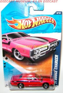 1971 71 Dodge Charger Pink Hot Wheels HW Diecast 2011