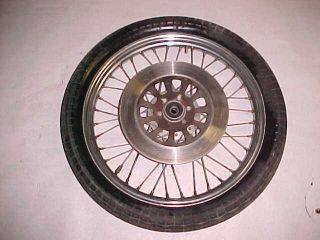 XS650 XS 650 Good Spoked Front Wheel Rim Tire and Brake Rotor