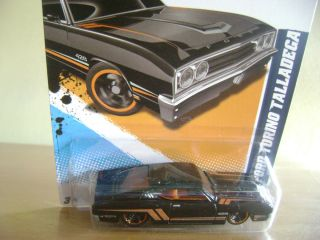 Hot Wheels 2012 69 Black Ford Torino Talladega Muscle Mania Ford 1 10