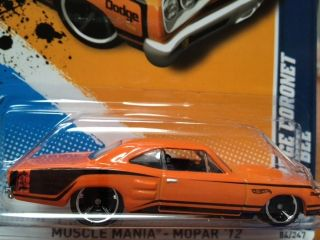 2012 Hot Wheels 69 Dodge Coronet Super Bee Burnt Orange