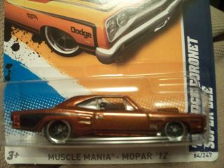 2012 Hot Wheels Super Treasure Hunt 69 Dodge Coronet Super Bee
