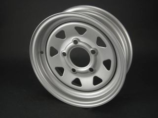 12x4 5 4 5 Silver Spoke Trailer Wheels Rims 12 inch 5 Lug on 4 5 in