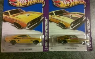 Hot Wheels 2013 Lot Super Treasure Hunt 73 Ford Falcon XB Plus Regular