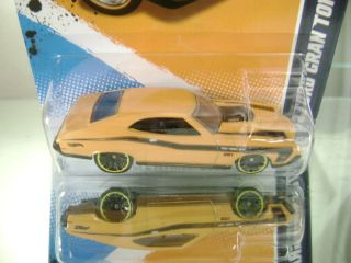 Hot Wheels 2012 72 Yellow Ford Gran Torino Sport Muscle Mania 12 7