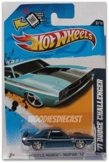 2012 Hot Wheels SUPER SECERT TREASURE HUNT 71 DODGE CHALLENGER RED