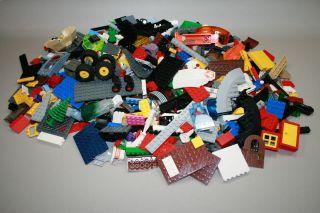 LEGO 1000 BRICKS BASEPLATES WHEELS BULK BUILDERS LOT CITY SANITIZED