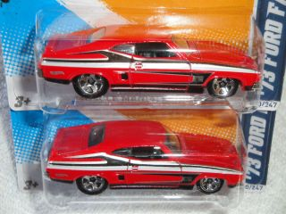 Hot Wheels 2012 Muscle Mania Ford 73 Ford Falcon XB Lot of 2 Free