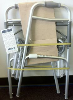MEDICAL DELUXE FOLDING TWO BUTTON WALKER WITH 5 INCH WHEELS 10210 1