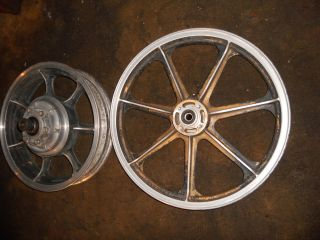 Dragbike KZ 1000 77 80 Pair Mag Wheels Vintage OEM Kawasaki Motorcycle