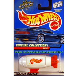 Hot Wheels Virtual Collection 2000 #142 White Blimp Y2K Dirigible