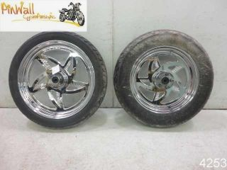 Sportster XLH AFTERMARKET CHROME WHEEL RIM WHEELS RIMS SET 16 19