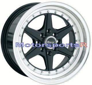 16 16x8 XXR 501 Black Rims Deep Dish Lip 4x114 3 Stance 94 97 Honda