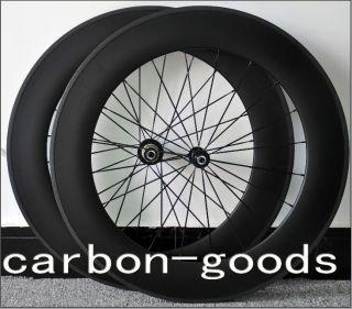 Fiber 3K Matt Finish Road Bike 88mm Tubular Wheels Wheelset