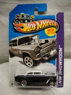Hot Wheels 2013 Custom Painted Super Hunt 55 Chevy Bel Air Gasser