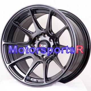 XXR 527 Chromium Black Concave Wheels Rims 83 85 Toyota Celica GTS GT