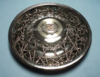 80 Up Original Cadillac Chrome Wire Wheel Hubcap