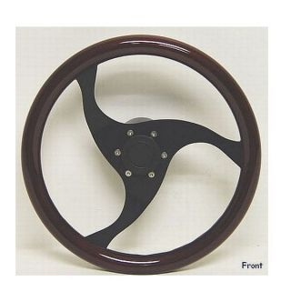 Custom 14 inch Simulated Wood Boat Steering Wheel