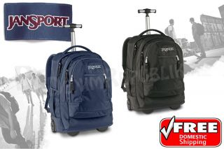 TN89 Backpack Rolling Student Wheels Book Bag Navy Black