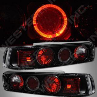 90 93 Acura Integra 3DR Hatchback Black altezza Tail Lights w Halo