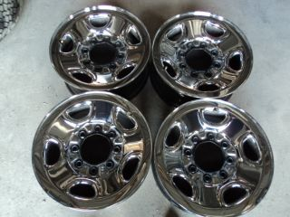 Factory 16 Chevy Chrome Steel Wheels 8 on 6 5 99 10
