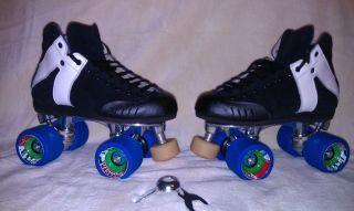 skates MG2 black medium size 5 bzerk mad man wheels 91a roller derby