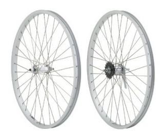 Beach Cruiser Bike 24x1 75 Rear Front Wheels Silver