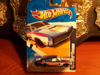 New 2012 Hot Wheels 70 Ford Torino 7 Blue Racing Diecast 8 10 NIP