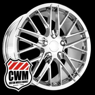 18x9 5 Corvette C6 ZR1 Chrome Wheels Fit 84 87 Corvette 93 02 Camaro