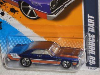 Hot Wheels Muscle Mania Mopar 12 5 10 68 Dodge Dart Blue