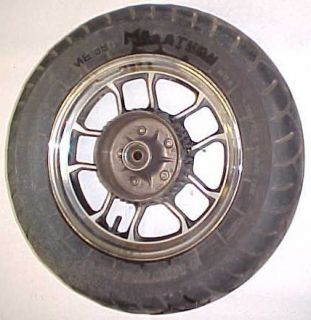 84 Honda VT700 C Shadow Rear Wheel Rim Tire Chrome 15
