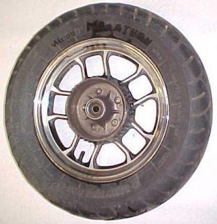84 Honda VT700 C Shadow Rear Wheel Rim Tire Chrome 15