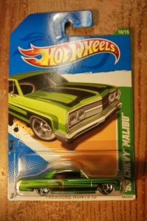 Hot Wheels 2012 Treasure Hunt 10 15 65 Chevy Malibu Green