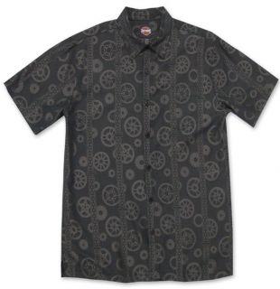 Harley Davidson® Mens Tori Richard® Rims Gears Shirt Short Sleeve