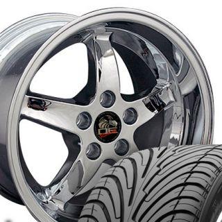 10 5 Chrome Cobra Wheels Nexen Tires Rims Fit Mustang® 94 04
