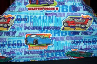 Colorful Curtain Valance Cars and Words 84 x 15 New 1997
