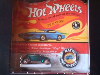 Hot Wheels RLC Exclusive HW 1968 Replica VW Bug with Button
