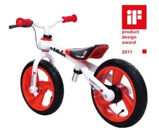 2011 JD Bug Balance Bike Bicycle Red White 12 Wheels