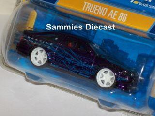 Hot Wheels Dropstars 1 50 RARE Metallic Purple Toyota trueno AE 86