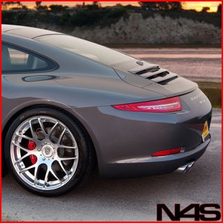 997 Turbo Wide Ruger Concave Silver Wheels Rims Hankook Tires