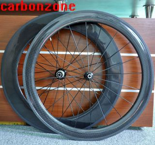 56 86mm 700c Carbon Road Bike Tubular Wheels Wheelsets