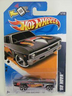 Hot Wheels 2012 HW Racing 68 Nova Black w Scan Track