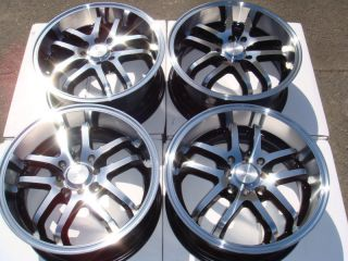 Black Wheels Accord Tiburon New Alloy Lancer Civic 4 Lug Rims