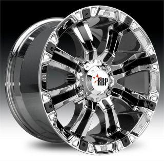 RBP 94R 20x10 Chrome w Black Insert Wheel All Truck SUV