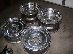 Centerline Aluminum Wheels Vintage Drag Racing Hot Rods Chevy 15 Inch