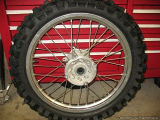 CR250 Rear Wheel Rim 95 Tire Is Near New Honda CR 250 R 1992 96